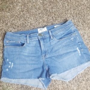 FRAME DENIM Jean Shorts Le Cutoff 28 London White